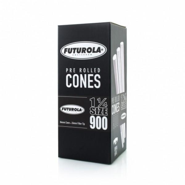 Futurola 1¼ Size - 84/26 Case [5400 Classic White Cones]