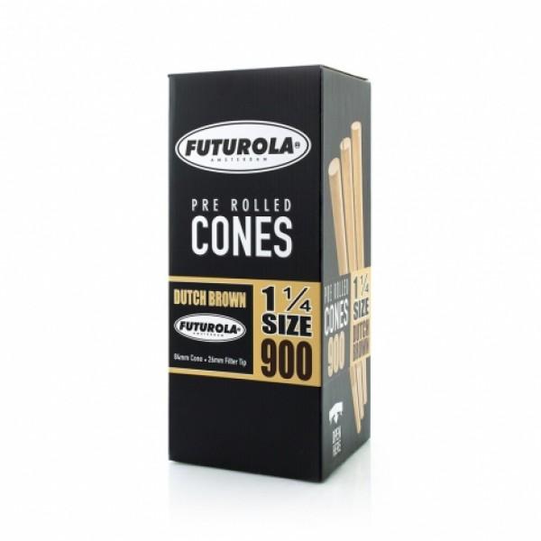 Futurola 1¼ Size - 84/26 Case [5400 Dutch Brown™ Cones]
