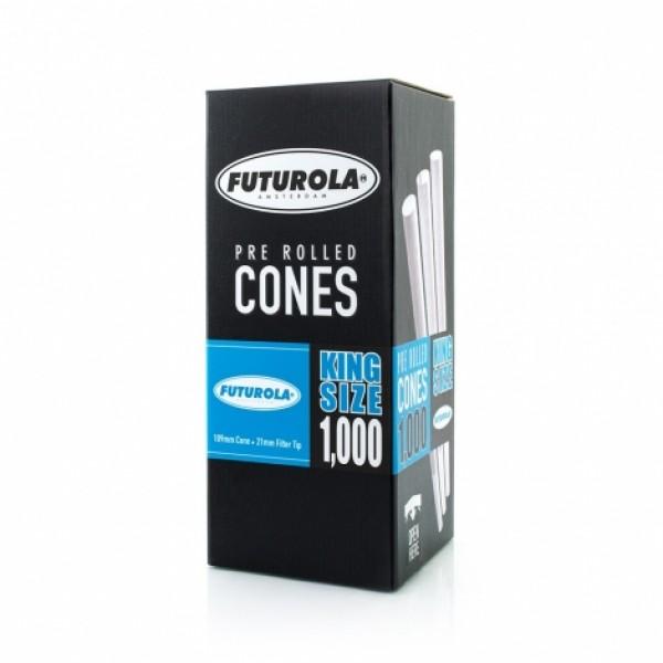Futurola King Size - 109/21 Case [6000 Classic White Cones]