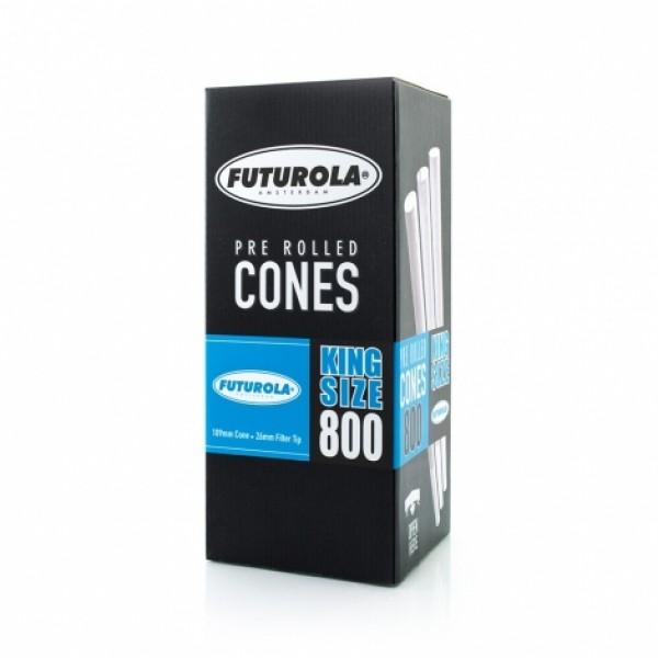 Futurola King Size - 109/26 Case [4800 Classic White Cones]
