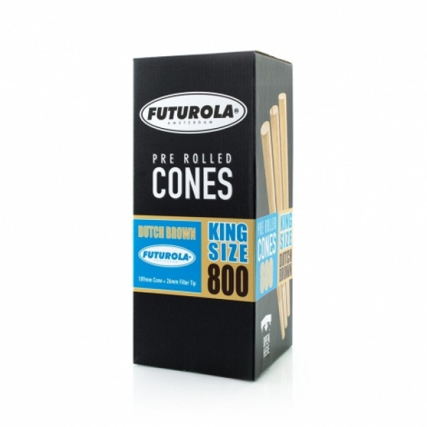 Futurola King Size - 109/26 Case [800 Dutch Brown™ Cones]