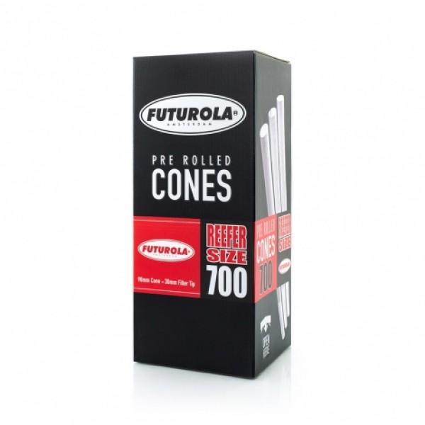 Futurola Reefer Size - 98/30 Case [700 Classic White Cones]