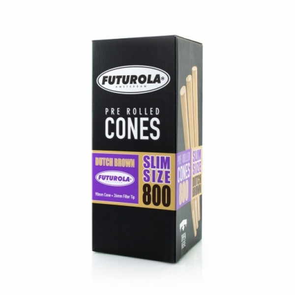 Futurola Slim Size - 98/26 Case [800 Dutch Brown™ Cones]