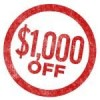 Click for Instant $1000 Off -$1,000.00