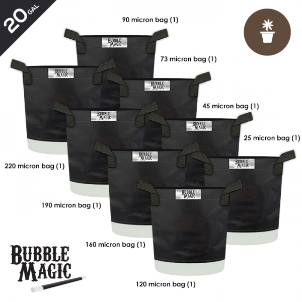20 Gallon Bubble Magic Extraction Bags (set of 8)