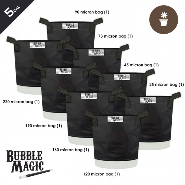 5 Gallon Bubble Magic Extraction Bags (set of 8)