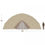 32' Emergency Shelter 775 Square Feet