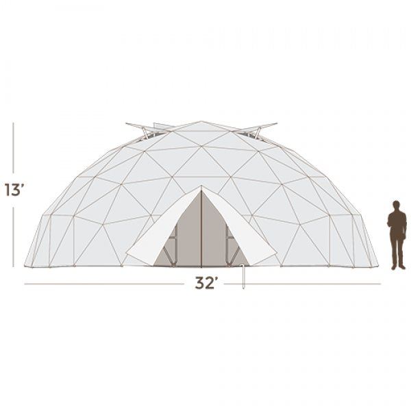 32' Geodesic Greenhouse 775 Square Feet