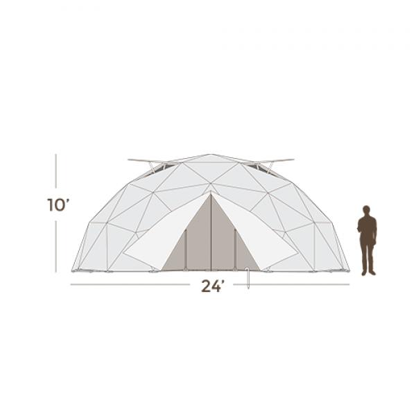 24' Geodesic Greenhouse 450 Square Feet