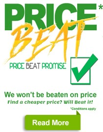 We will meet or beat any price.