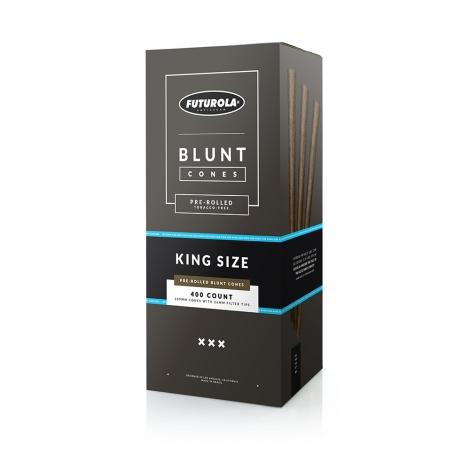 Futurola King Size 109/26 Tobacco-Free Blunt Cones - Case of 2400
