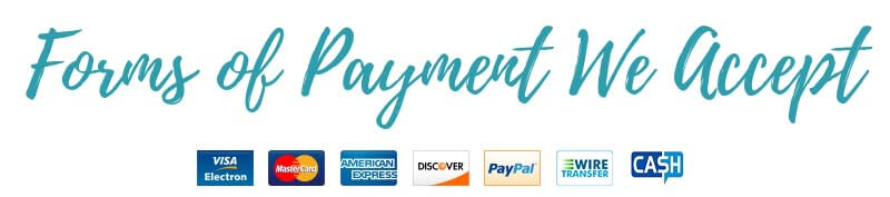 Accepted forms of payment