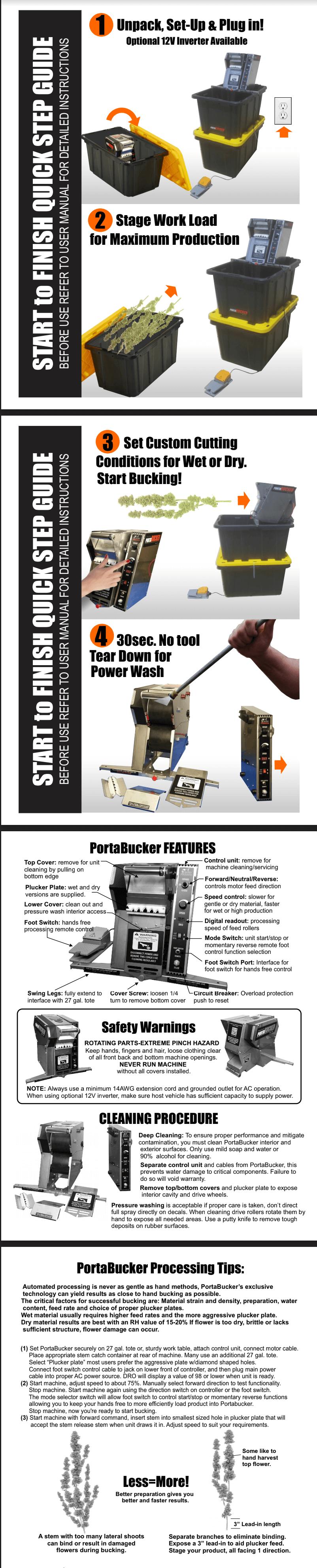 Porta Bucker Quick Start Guide