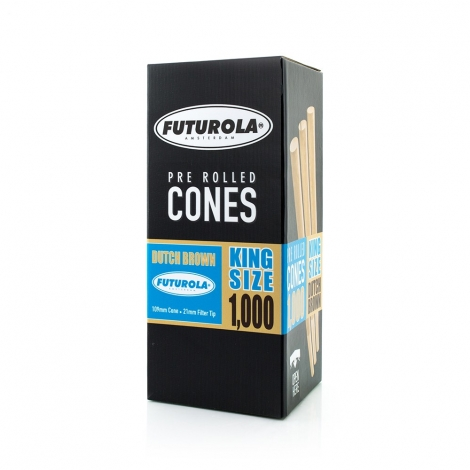 Futurola King Size - 109/21 [1000 Dutch Brown Cones]