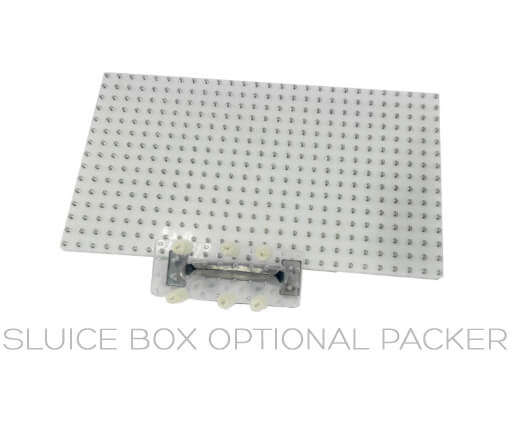 Sluice Box packer add on for the Sluice Box MJ Pre Roll Machine to pack your pre rolls with ease.