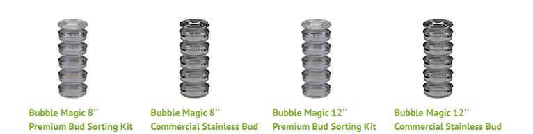 bubble magic bud sorting kit size chart