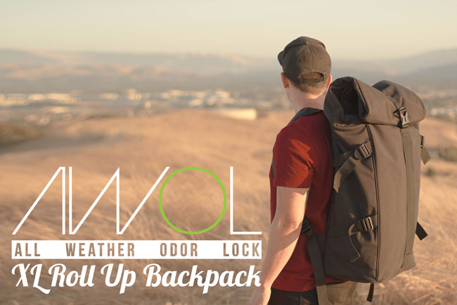 AWOL™ (XL) Roll-UP Backpack -All Weather Odor Lock