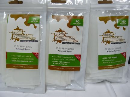 Ez Squeeze Rosin Filter Bags Available in 160, 90 or 37 micron 100% food grade nylon.