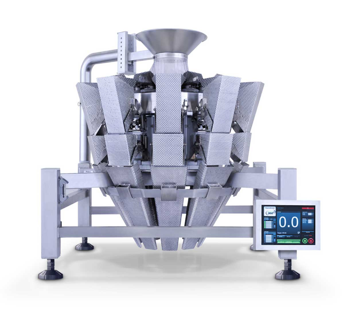 EZPACKAGE Weigher by Paxiom is Part of the Primo Combi weighing/packing system.