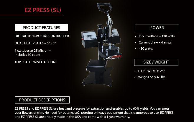 EZ Press Rosin Press (SL)