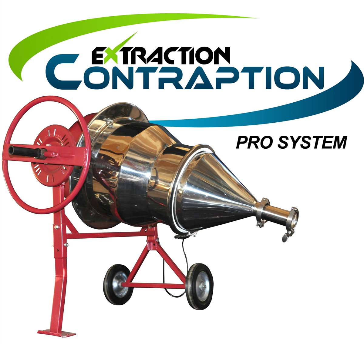 The Extraction Contraption Pro System is constructed of high quality stainless steel, and has an optional compactor so you can process and package your plant extraction quickly and easily.
