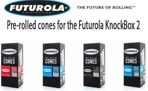 Pre-rolled cones for the Futurola KnockBox 2