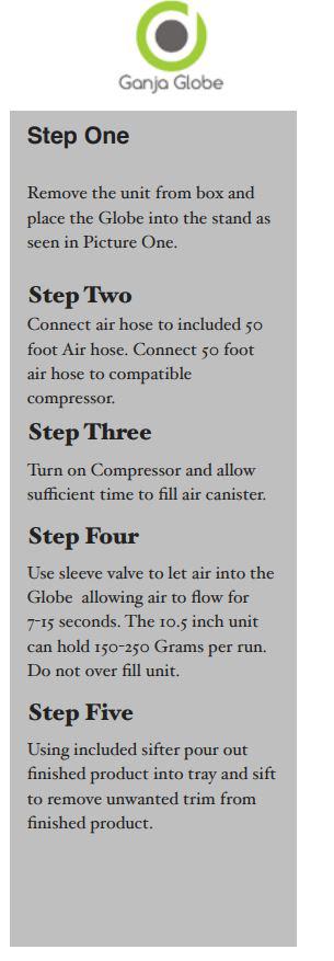 Ganja Globe Instructions