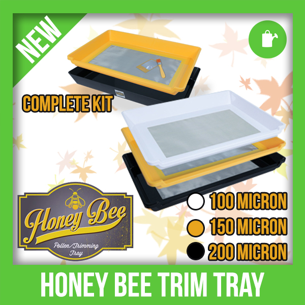 The Honey Bee Pollen Collection & Trimming Tray is two helpful products in one.