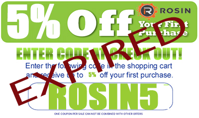 Save 5% off all Rosin Industries dry sift tumblers