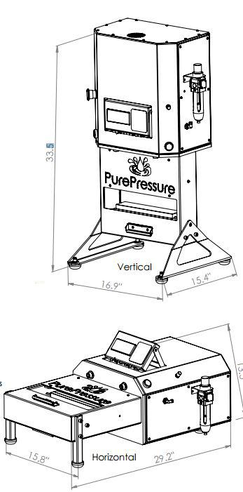 pikes peak rosin press dimensions