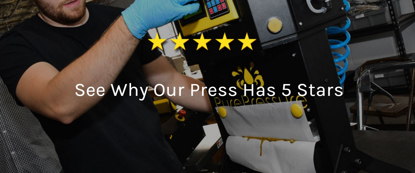 Pure Pressure, manufacturers of top quality rosin presses, rosin bag made in Denver, Colorado.