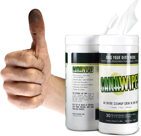 Canawipes Cleansing Hand Wipes