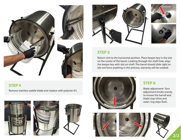trimit pro dry trimmer page five set up instructions