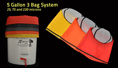 5 Gallon XXXtractor Bag 3 Bag System